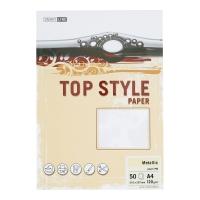 Papier ozdobny TOP STYLE Metalic, kolor perłowy, 120 g/m?, 50 arkuszy