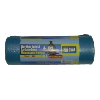 Worki na śmieci MDPE 60 l, niebieskie, 20 sztuk