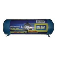Worki na śmieci MDPE 120 l, niebieskie, 20 sztuk