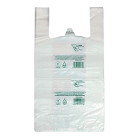Reklamówki biodegradowalne, 30 +/- 7,5 x 55 cm, 100 sztuk