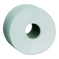 Papier toaletowy MERIDA Jumbo PTB201, dwuwarstwowy, biały, 12 rolek