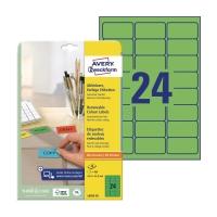 Etykiety kolorowe AVERY ZWECKFORM 63,5x33,9 mm, zielone w opakowaniu 480 etykiet