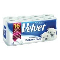 Papier toaletowy VELVET, biały, 16 rolek