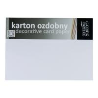 Karton ozdobny GALERIA PAPIERU A4, gładka faktura,  biały 250g/m², 20 arkuszy