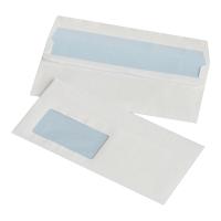 Koperty samoklejące lewe okno DL NC KOPERTY, białe,  50 sztuk