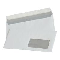 Koperty z paskiem okno prawe DL NC KOPERTY, białe,  50 sztuk