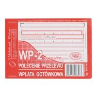 Druk MI&PRO Polecenie przelewu/wpł. got. A6 (o+1k) miękkie  80 kartek
