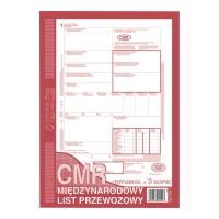 Druk MI&PRO CMR  Międzynarodowy list przewozowy  A4 (O+3K) 80 kartek