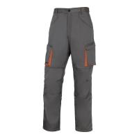 Spodnie DELTA PLUS MACH2, szaro-pomarańczowe, rozmiar L