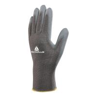 Rękawice powleczone poliuretanem DELTA PLUS VE702GR, rozmiar 7, 10 par