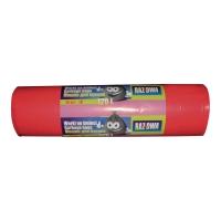 Worki na śmieci LDPE sanitarne, bez taśmy ściągajacej 120 l, czerwone, 25 sztuk