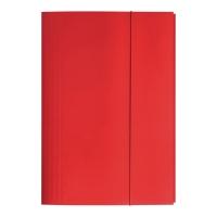 Teczka kartonowa BIGO z gumką A4 czerwona