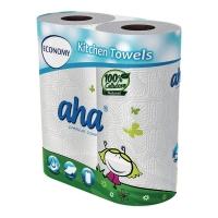 Ręczniki kuchenne AHA, białe, 2 rolki
