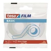 Taśma biurowa TESA BASIC mleczna 10 m x 15 mm + dyspenser