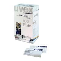 Chusteczki czyszczące Uvex clear 9963.000, 100 sztuk pakowanych pojedynczo