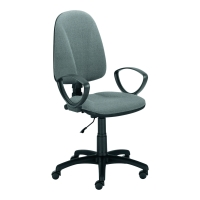 Krzesło PREMIUM ERGO ze stałymi podłokietnikami czarno-szare