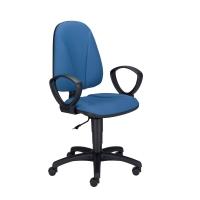 Krzesło NOWY STYL Premium Ergo  ze stałymi podłokietnikami, niebieskie