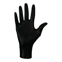 Rękawice nitrylowe MERCATOR MEDICAL nitrylex® PF BLACK, rozmiar L, 100 sztuk