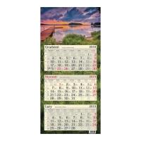 Kalendarz trójdzielny Crux, płaski, I love Poland