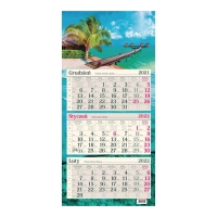 Kalendarz trójdzielny Crux, płaski, leśny strumień
