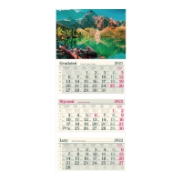 Kalendarz trójdzielny Crux, wypukły, maki