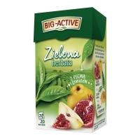 Herbata zielona BIG-ACTIVE, zielona z pigwą i granatem, 20 torebek