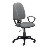 Krzesło NOWY STYL Premium Ergo ze stałymi podłokietnikami, szare