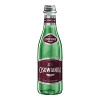 Woda mineralna CISOWIANKA silnie gazowana, w szkle, 24 butelki x 300 ml