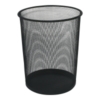 Kosz na śmieci, metalowa siatka, czarny