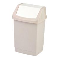 Kosz na śmieci CURVER CLICK-IT uchylny, beżowy, pojemność 25l