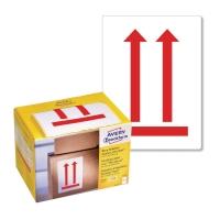 Ostrzegawcze etykiety wysyłkowe-Tutaj góra Avery Zweckform, 74x100mm, 200szt