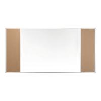Tablica trójdzielna 2x3 Combi, z korkiem, 100 x 150 cm