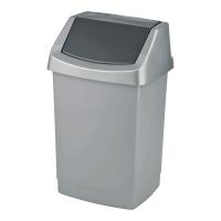 Kosz na śmieci CURVER CLICK-IT uchylny, srebrny, pojemność 25 l