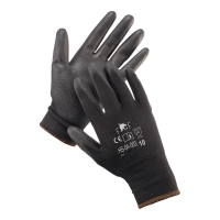 Rękawice F&F HS-04-003, czarne, rozmiar 6, 12 par
