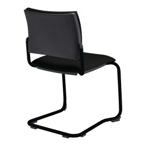 Krzesło recepcyjne NOWY STYL Savannah, na płozie, czarne