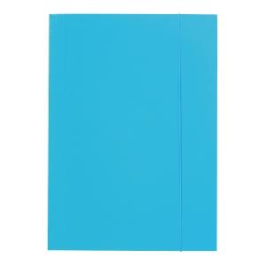 Teczka z gumką BARBARA 208, A4, niebieska
