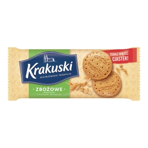 KRAKUSKI WHOLE GRAINS COOKIES 201G