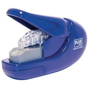 Zszywacz Plus bezzszywkowy, niebieski