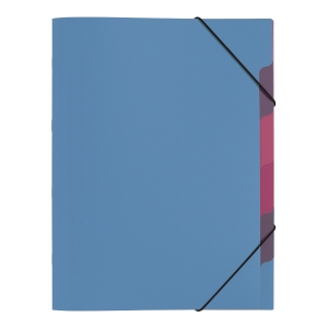 Teczka segregująca z przekładkami A4 z PP Trend niebieska