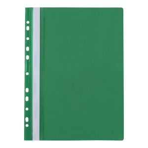 BIURFOL PUNCHED FILE PP A4 GREEN