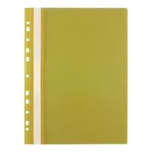 Skoroszyt wpinany miękki PP Biurfol w kolorze żółtym