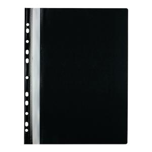 Skoroszyt wpinany miękki PP Biurfol w kolorze czarnym