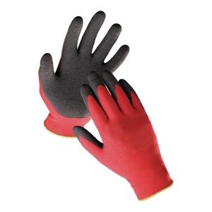 Rękawice F&F Hs-04-016, Czerwono-czarne, Rozmiar 7
