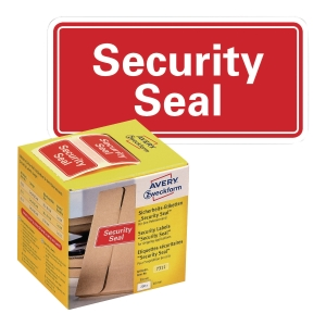 PK200 AVERY 7311 SECURITY SEAL 38X20MM