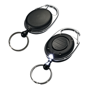 Mechanizm ściągający Durable Jojo Style z diodą LED, czarny