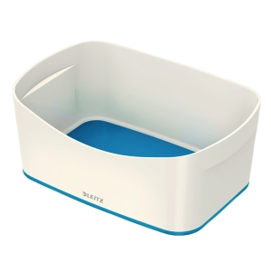 Pojemnik Leitz MyBox bez pokrywki, biało-niebieski