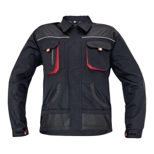 F&F BE-01-002 JACKET 58 BLK/RED