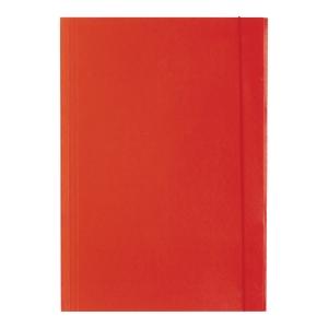 Teczka lakierowana z gumką BARBARA, 350 g/m², A4, czerwona