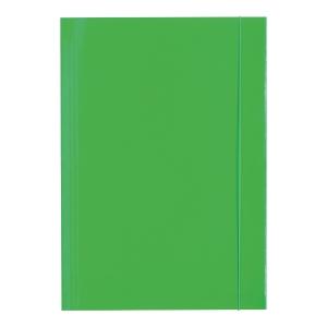 Teczka lakierowana z gumką BARBARA, 350 g/m², A4, zielona