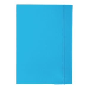 Teczka lakierowana z gumką BARBARA, 350 g/m², A4, niebieska